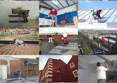 Varios trabajos de reparación restauración y obras